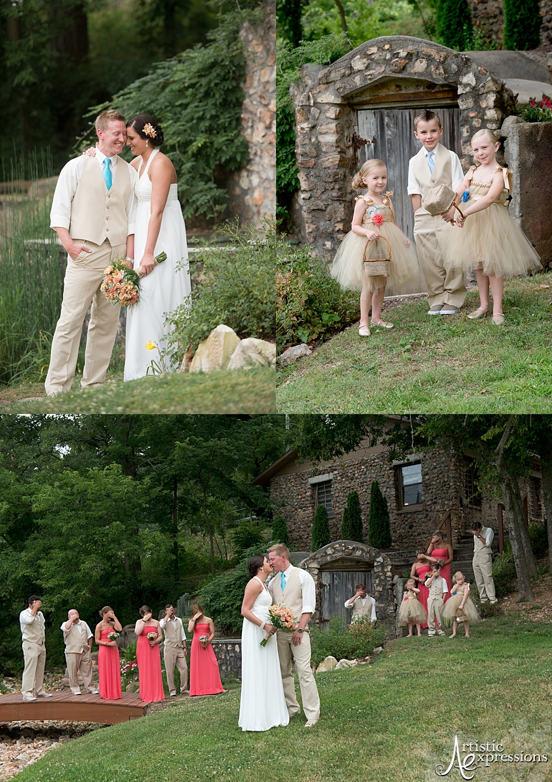 Sarah And Justin Are Married Springhouse Gardens Wedding Venue Joplin Mo Joplin Expressions